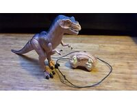 Remote controlled T-rex dinosaur