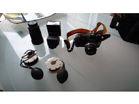 Nikon F-301 with lenses and extras