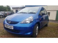 Honda jazz 1.2 very low miles(like civic toyota nissan polo golf fiat mini corsa corolla ford)