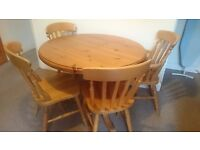 Pine Dining table & 4 chairs, perfect for upcycling