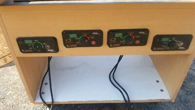 Mr. Induction Electric Cook-top 4 Burner Warmer Table Sr-1151b-1w On Cart