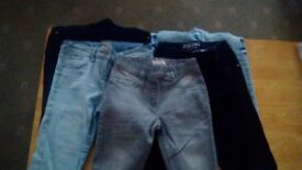 Selection of girls jeans/ jeggings.