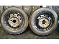 205 65 16 C 2 x tyres Roadstone + 2 x steel wheels PEUGEOT Boxer,Citroen Relay ,Fiat Ducat