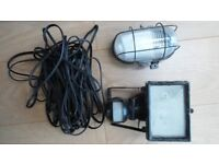 2 OUTDOOR WALL LIGHTS