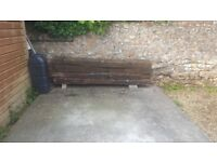4 Oak Railway Sleepers for sale. Wellington town centre. Collection only