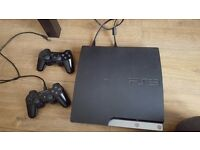 PlayStation 3 PS3 Slim 320GB 2 pads, 8 games, cables