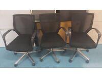14 Sidiz black mesh back swivel office/meeting/conference/boardroom chairs