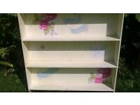 shabby chic decoupage wall hung shelves
