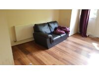 2 seater faux leather sofa