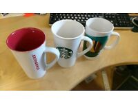 3x large Starbucks mugs