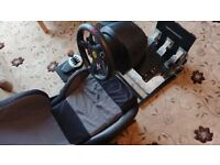 Thrustmaster T300 Thrustmaster TH8 RS Corbeau Seat Gt omega wheel stand