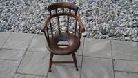 ANTIQUE WINDSOR CHAIR CHILD'S POTTY