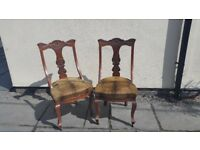 Antique Ornate Wooden Chairs - Sold individually or together - Coalville £25 each
