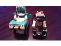 Fisher Price car- nivores cars - KP & Shark