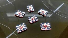 Vintage Union Jack Buttons. £5.00