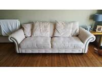 2 dfs couches 3 seater and 4 seater