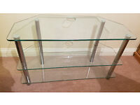 Glass TV stand - lounge/living room furniture