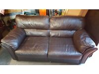 Leather Large 2 Sofa and Chair