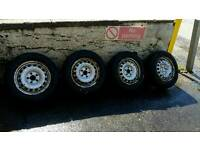15 inch steel wheels and tyres vw caddy