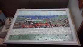 Hand Crafted Mosaic of The City of Truro Steam Engine