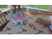 Disney princess castle wirh figures. Hardly used. Bought in disneyland paris.