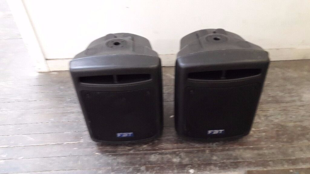 FBT MAXX9SA,900 WATTS active subs,high quality,made in italy,pair!,cost2700in Leytonstone, LondonGumtree - REDUCED FROM £890 TO £690 FOR QUICK SALE FBT MAXX9SA,900 WATTS active subs,high quality,made in italy,pair!,cost £2700!!! Comes with FBT covers worth over £90 Loaded with original B&C neo drivers,only 26kg!! High quality sound. Priced for quick...