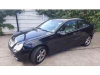2008 MERCEDES C-CLASS C180 KOMPRESSOR SE SPORTS COUPE.BRILLIANT DRIVE.LONG MOT.2 KEYS.E/W.LEATHER.