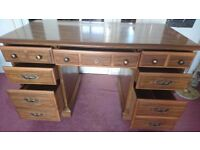 Antique Style Writing Desk with Drawers
