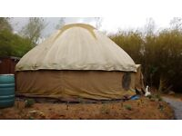 20 foot YURT with insulation, log burner and more.
