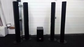 Black Pioneer S-DV370T Tall Speakers surround / home theatre