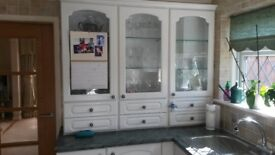 Complete White fitted kitchen .Over 20 units.Rangemaster Cooker ,Microwave. Fridge and Freezer