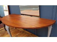 Antique Half Moon Coffee / Side Table