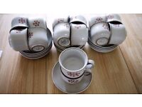 Denby Gypsy Vintage (1970's) Hand Painted, 18 Teacups and 17 Saucers