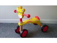Kids Giraffe Ride-on Wooden Bike