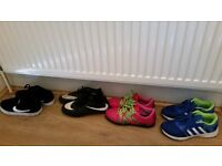 kids football boots and trainers - Size 4