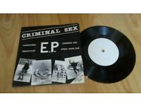 criminal sex ep ( chesterfield punk band ) rare 7""