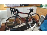 Focus IZALCO Road Bike / Bicycle - Ergoride 1.0 2015 Carbon Frame (S) + Elite Trainer & Accessories