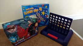 Spiderman Floor Jigsaw Puzzle and Line Of Four Board Game.