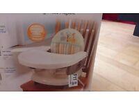 Safari stripe toddler booster seat/folding high chair