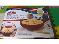 Pancake and Popcorn Maker, New, Comes with the original box and all accessories