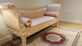 Roman style ornate couch excellent condition hardly used.