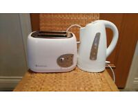 White Toaster and Kettle Combo