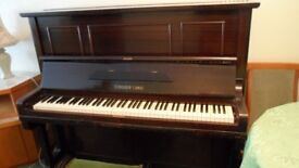 Vintage Gebruder Lange upright grand piano