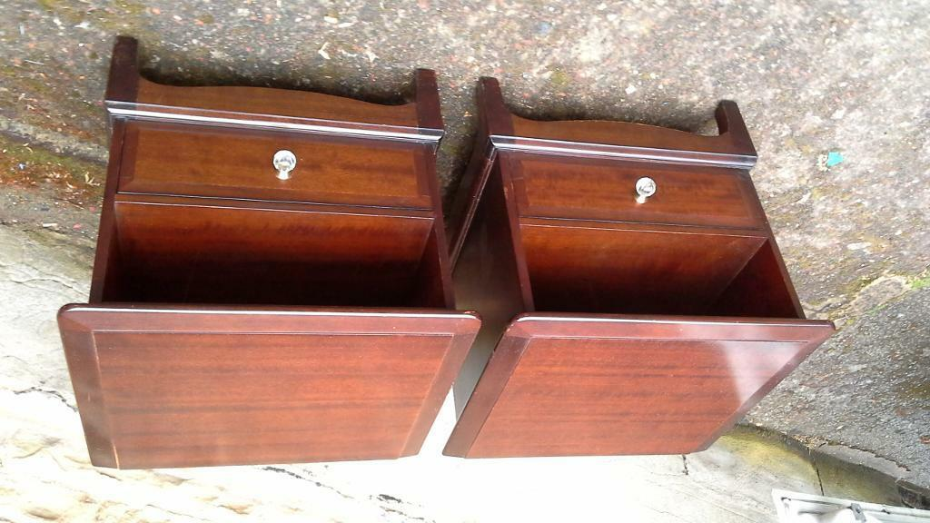 Pair of stag bedside cabinets