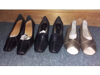 BRAND NEW QUALITY SHOES AND SANDALS FOR LADIES SIZE 3 FROM CLARKS AND PAVERS