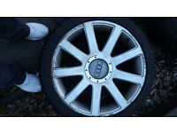 4 x audi original 18 inch alloys and tyres