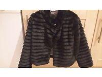 Gorgeous Black Fur coat 7-8