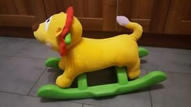 Stride along puppy and ride on lion. All good condition and working with sound.