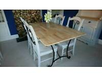 Beech top dining table and chairs