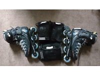 Women's size 8 Roller Blades EVO 07 very good condition with protection pads